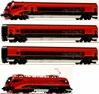 Jägerndorfer 10402 OBB 4pc Railjet Spirit of Europe