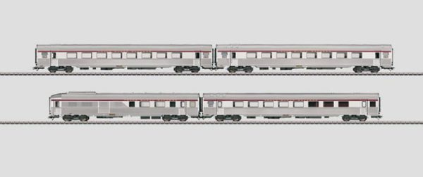 Märklin 41874 L'Oiseau Bleu PBA TEE Express Train Passenger Car Set