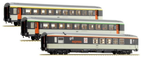 LS Models 40134 SNCF Corail Passenger Car Set