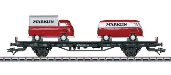 Märklin 45083 Auto Transport Car with 2 VW Type T1 Märklin Bus
