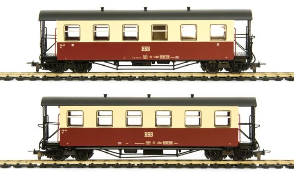 Tillig 13991 Two HSB Passenger Cars