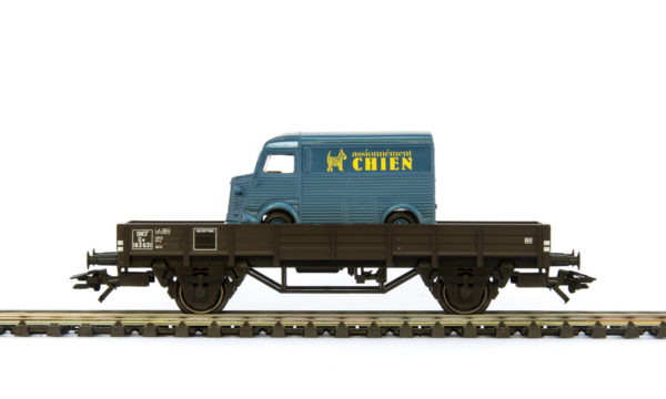Märklin 44900.003 Low Side Car with Citroën H Delivery Truck