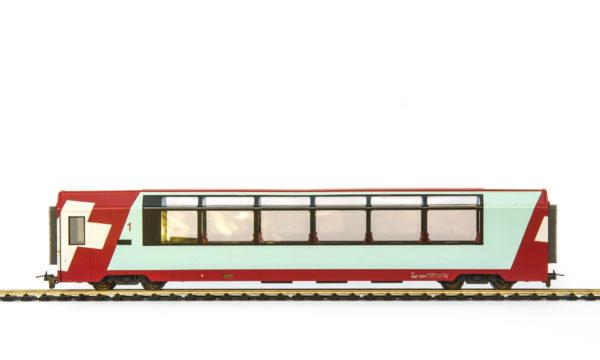 Bemo 3289 101 RhB Glacier Express 1st Class Passenger Car