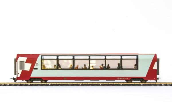 Bemo 3289 121 RhB Glacier Express 2nd Class Passenger Car