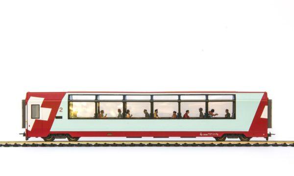 Bemo 3289 122 RhB Glacier Express 2nd Class Passenger Car