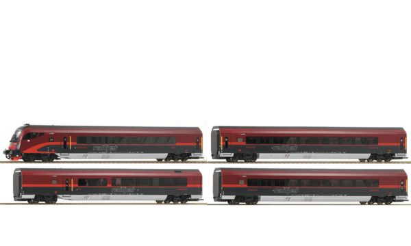 Roco 64190 4 Piece ÖBB Railjet Set