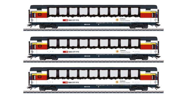 Märklin 43650 Gotthard Panorama Express Passenger Car Set