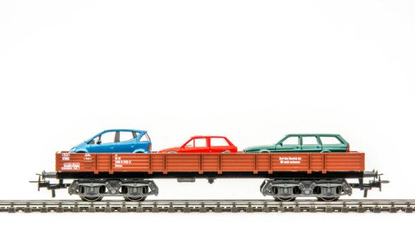 Märklin 44732 Auto Transport Wagon with Three Cars