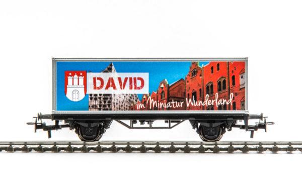 Märklin 94479 Miniatur Wunderland Container Wagon with Custom Name
