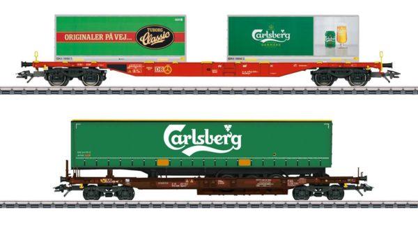 Märklin 47109 Carlsberg and Tuborg KLV Freight Car Set