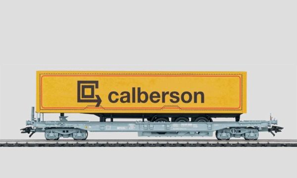 Märklin 47450 Flat Car with Calberson Truck Trailer
